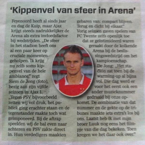 """""""Kippenvel in Arena"""""""